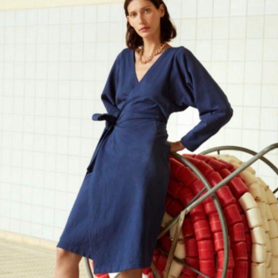 Sweatkleid Damenkleid Jerseykleid Fledermausärmel kostenlose Schnittmuster Gratis-Nähanleitung