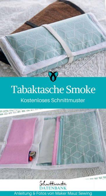 Tabaktasche Aufbewahrungstasche Geschenke Nähen Nähen für Raucher kostenlose Schnittmuster Gratis-Nähanleitung