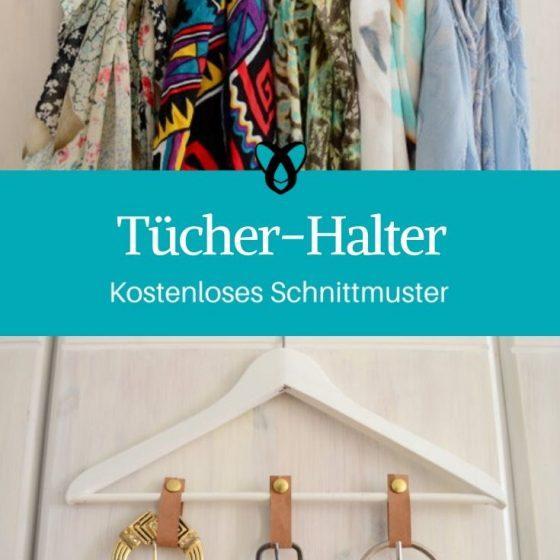 Tücherhalter Organizer ordentlicher Kleiderschrank Nähen für Zuhause Garderobe kostenlose Schnittmuster Gratis-Nähanleitung