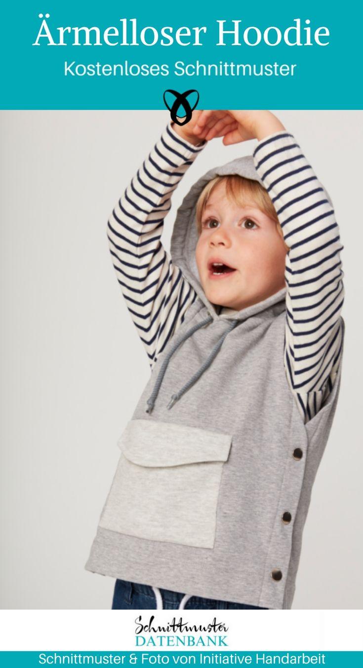 Hoodie schnittmuster kostenlos kinder