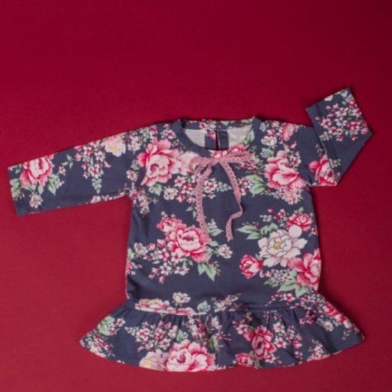 Babykleid Mädchenkleid Volantkleid Baby Erstausstattung Nähen fürs Baby kostenlose Schnittmuster Gratis-Nähanleitung