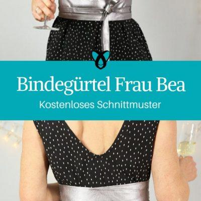 Bindegürtel Damengürtel elegante Mode Accessoires kostenlose Schnittmuster Gratis-Nähanleitung
