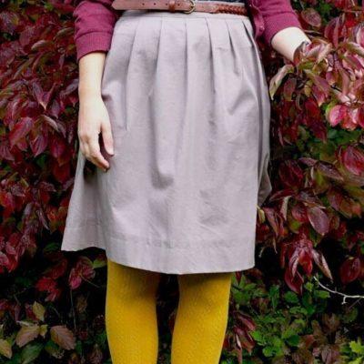 Herbstrock Faltenrock Damenrock Nähen für Frauen Nähen für Kinder kostenlose Schnittmuster Gratis-Nähanleitung