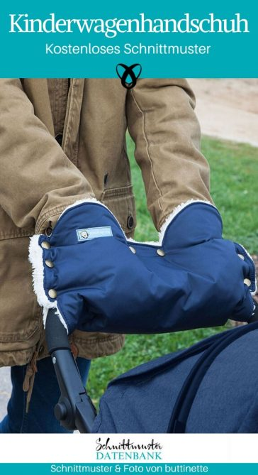 Kinderwagenhandschuh Kinderwagenmuff Nähen Kinderwagen kostenlose Schnittmuster Gratis-Nähanleitung
