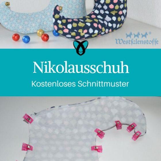 Nikolausschuh Weihnachtsdeko Nähen für Weihnachten kostenlose Schnittmuster Gratis-Nähanleitung