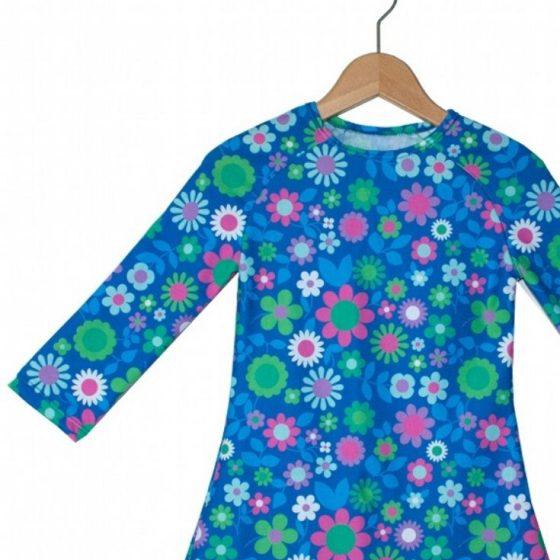 Raglankleid Mädchenkleid Jerseykleid kostenlose Schnittmuster Gratis-Nähanleitung