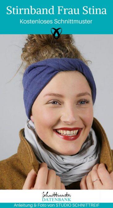 Stirnband Warme Ohren Outdoor Accessoires Nähen für den Winter kostenlose Schnittmuster Gratis-Nähanleitung