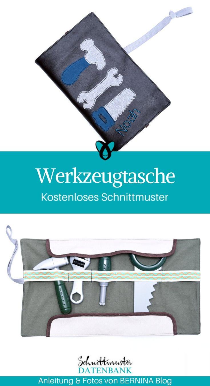 Werkzeugtasche Spieltasche Nähen für Kinder Spielzeug kostenlose Schnittmuster Gratis-Nähanleitung