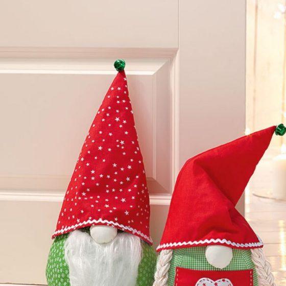 Wichtel-Türstopper Nähen für Weihnachten Weihnachtsdeko kostenlose Schnittmuster Gratis-Nähanleitung
