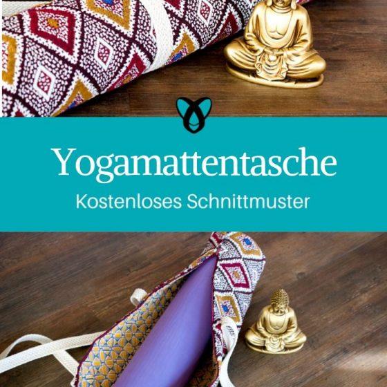 Yogamattentasche Yoga nähen Sportequipment nähen kostenlose Schnittmuster Gratis-Nähanleitung