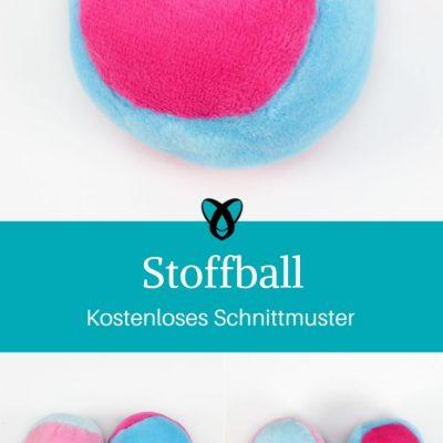 Ball Stoffball Rasselball Kinderspielzeug Babyspielzeug Hundespielzeug Katzenspielzeug kostenlose Schnittmuster Gratis-Nähanleitung