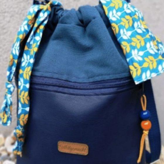 Beuteltasche Handtasche Damentasche Umhängetasche kostenlose Schnittmuster Gratis-Nähanleitung