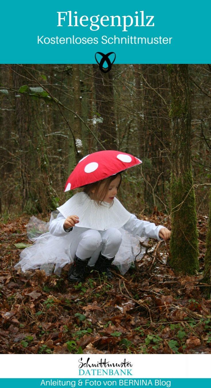 Fliegenpilz Faschingskostüm Karneval Fasching Kostüm Kinderkostüm Verkleiden kostenlose Schnittmuster Gratis-Nähanleitung