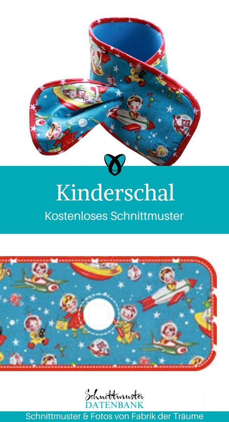 Kinderschal Halstuch Kinder Halssocke Accessoires Kinder Kleinkinder kostenlose Schnittmuster Gratis-Nähanleitung