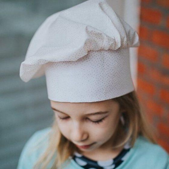 Kochmütze Faschingskostüm Karneval Fasching Kostüm Kinderkostüm Verkleiden kostenlose Schnittmuster Gratis-Nähanleitung kleiner Koch Verkleiden als Koch
