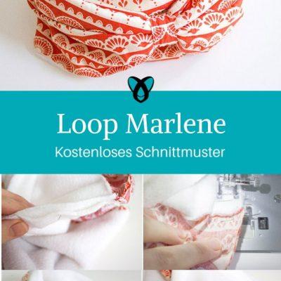 Loop Marlene Halstuch Schal Loopschal Accessoires kostenlose Schnittmuster Gratis-Nähanleitung