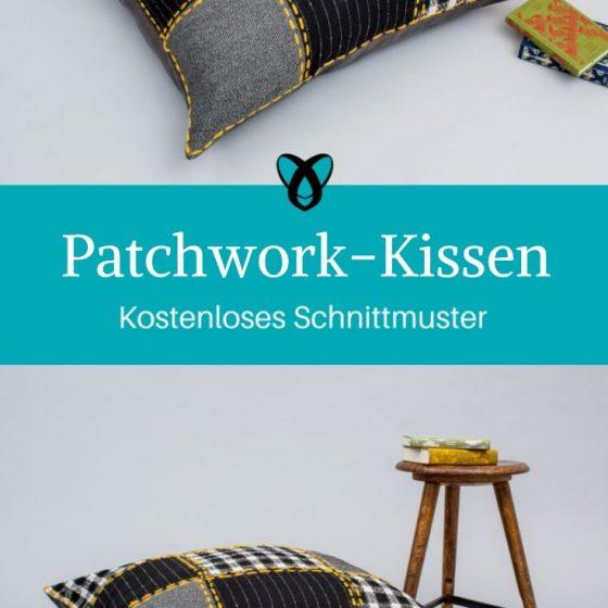 Patchwork Kissen Heimdekoration Nähen für Zuhause kostenlose Schnittmuster Gratis-Nähanleitung