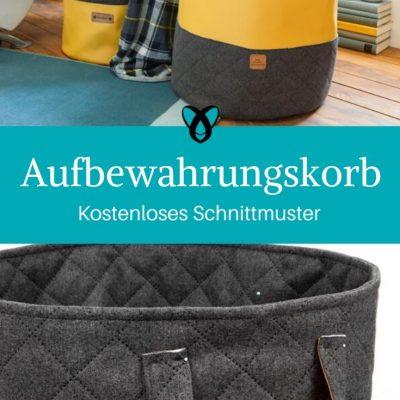 Aufbewahrungskorb große Tasche Wäschekorb Spielzeugtasche kostenlose Schnittmuster Gratis-Nähanleitung