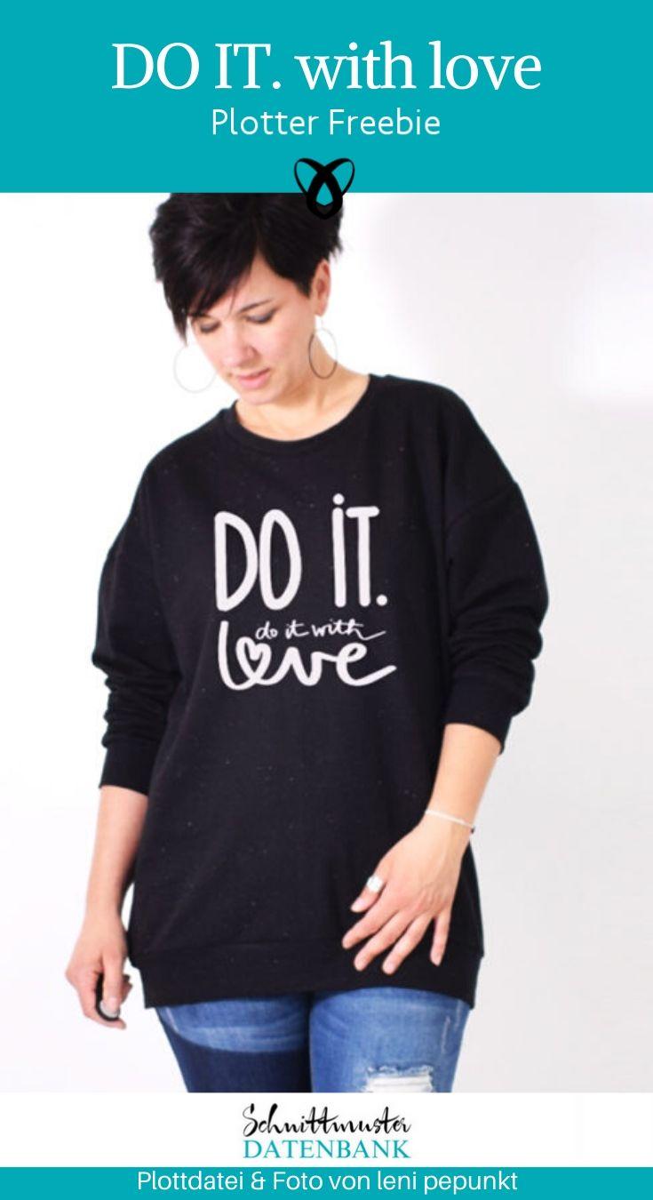 Do it with Love Plotter-Freebie kostenlose Plottdatei kostenlose Schnittmuster Gratis-Nähanleitung