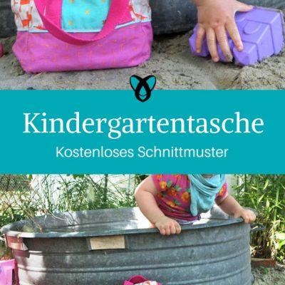 Kindergartentasche Spieltasche Kindertasche Spielzeugtasche kostenlose Schnittmuster Gratis-Nähanleitung