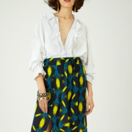 Midi Rock Damenrock Kleidung nähen kostenlose Schnittmuster Gratis-Nähanleitung