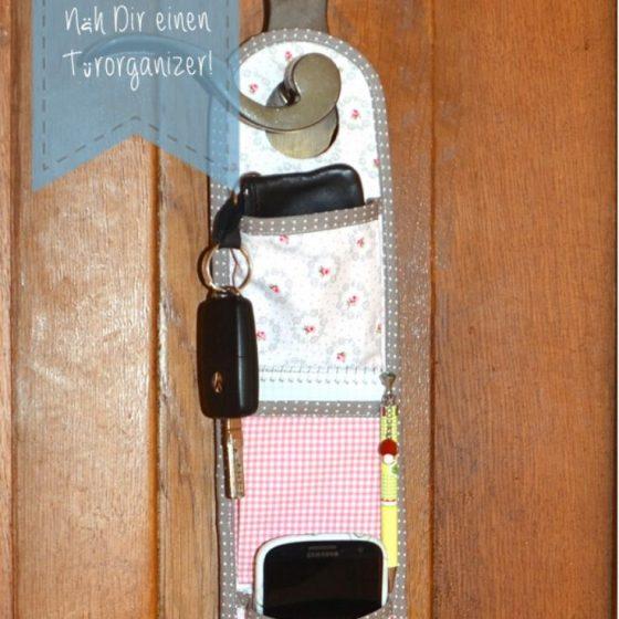 Türorganizer Aufbewahrung Schlüssel Handy Nähen für Zuhause kostenlose Schnittmuster Gratis-Nähanleitung