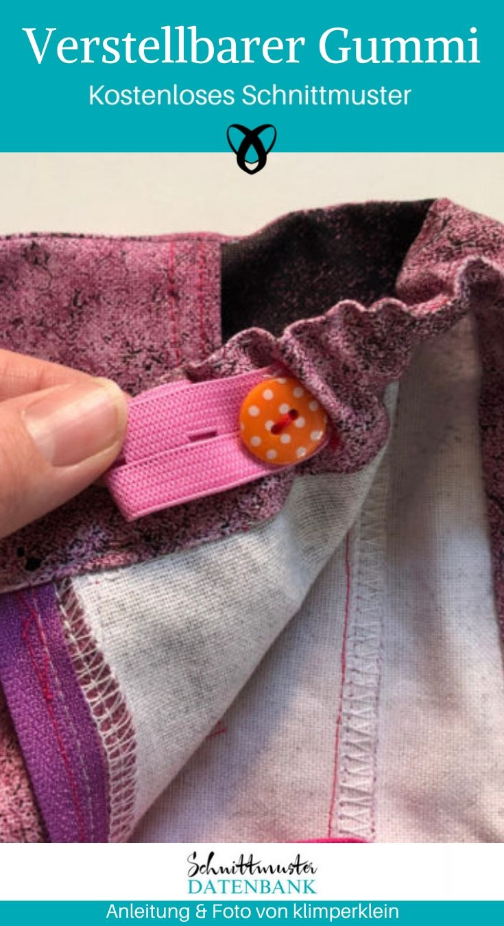 Verstellbarer Hosengummi Nähen für Kinder für schlanke Personen kostenlose Schnittmuster Gratis-Nähanleitung