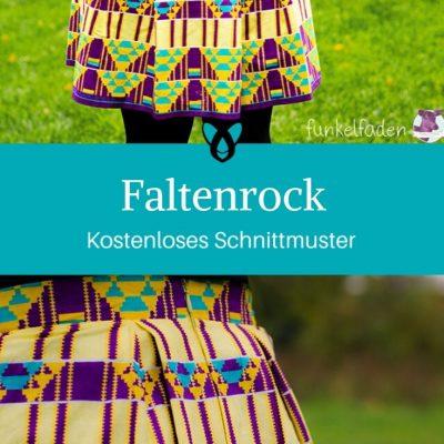 Faltenrock Damenrock Kleidung Damenkleidung kostenlose Schnittmuster Gratis-Nähanleitung