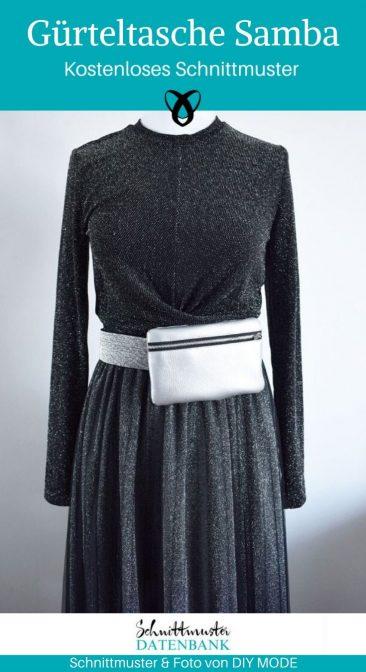 Gürteltasche Samba Bauchtasche kleine Handtasche kostenlose Schnittmuster Gratis-Nähanleitung