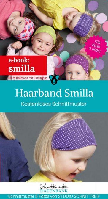 Haarband Smilla Kopfband Haarschmuck für Kinder für Frauen für Männer kostenlose Schnittmuster Gratis-Nähanleitung