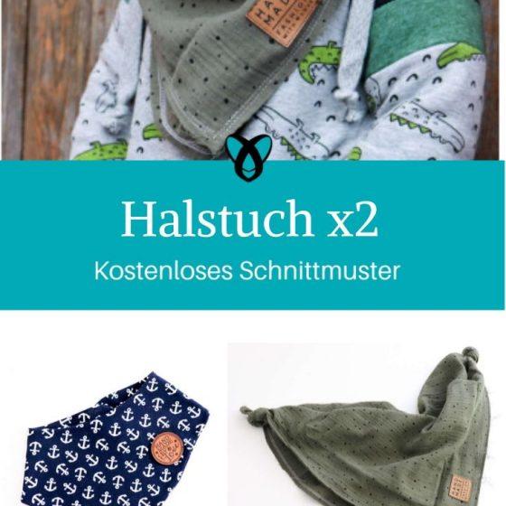 Halstuch Kinder Baby Schal Musselintuch kostenlose Schnittmuster Gratis-Nähanleitung