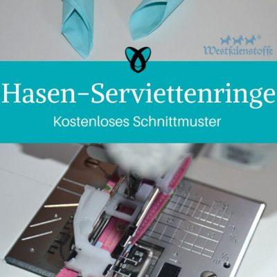 Hasenserviettenringe Serviettenringe Osterfrühstück Ostertisch kostenlose Schnittmuster Gratis-Nähanleitung Ostern