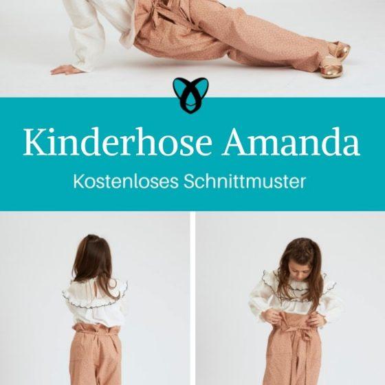 Kinderhose Amanda Paperbaghose Kinder Nähen für Kinder kostenlose Schnittmuster Gratis-Nähanleitung