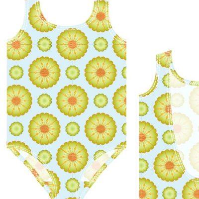Mädchenbadeanzug Badekleidung Kinder Badeanzug Schwimmen Nähen kostenlose Schnittmuster Gratis-Nähanleitung