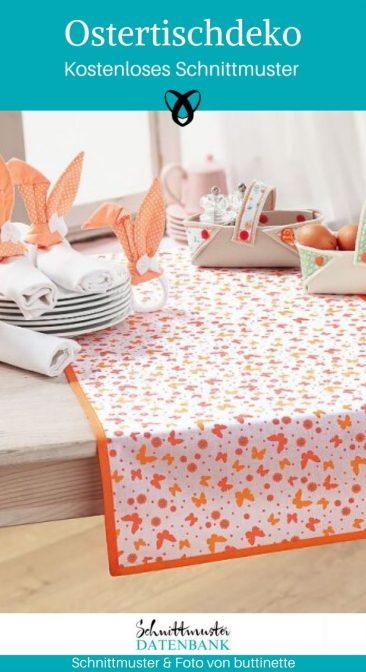 Ostertischdeko Serviettenringe Ostern Osterkörbchen Osterfrühstück gedeckter Tisch kostenlose Schnittmuster Gratis-Nähanleitung
