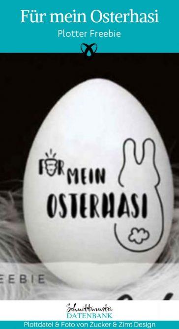 Plotter-Freebie Osterhasi Ostern kostenlose Plottdatei kostenlose Schnittmuster Gratis-Nähanleitung