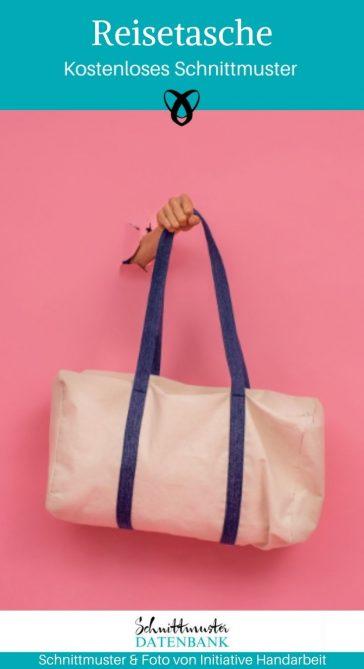 Reisetasche Sporttasche Große Tasche einfache Tasche kostenlose Schnittmuster Gratis-Nähanleitung