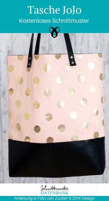 Tasch JoJo Shoppingbag Einkaufstasche Stoffbeutel Nachhaltigkeit Henkeltasche kostenlose Schnittmuster Gratis-Nähanleitung