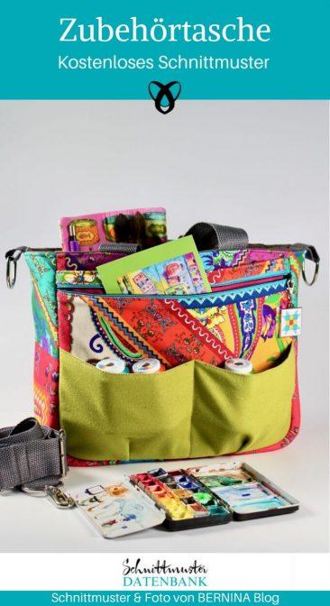 Zubehörtasche Nähtasche Nähmaschinentasche Tasche zum Nähen Taschen mit vielen Fächer kostenlose Schnittmuster Gratis-Nähanleitung