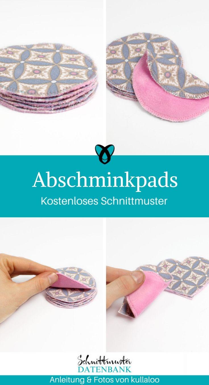 Abschminkpads Nähen mit Stoffresten Nachhaltigkeit kostenlose Schnittmuster Gratis-Nähanleitung