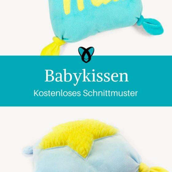 Babykissen Nähen zur Geburt Nähen für Babies Erstausstattung kostenlose Schnittmuster Gratis-Nähanleitung