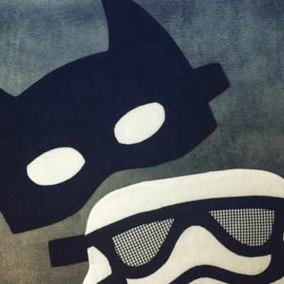 Comic-Schlafmasken Superhelden Schlafmasken coole Nähprojekte kostenlose Schnittmuster Gratis-Nähanleitung