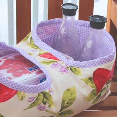 Kleine Picknicktasche Lunchbag kostenlose Schnittmuster Gratis-Nähanleitung