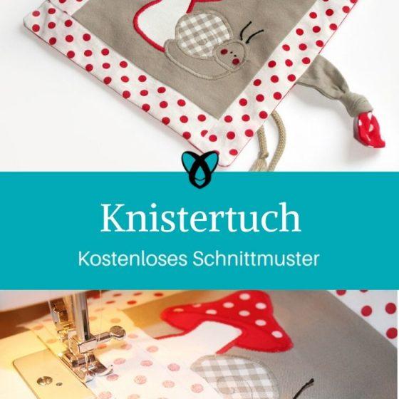 Knistertuch Nähen für Babies Erstausstattung Geschenke zur Geburt kostenlose Schnittmuster Gratis-Nähanleitung