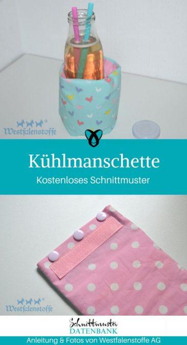 Kühlmanschette Glaskühlung Grillsaison NÄhen für ZUhause Grillparty kostenlose Schnittmuster Gratis-Nähanleitung