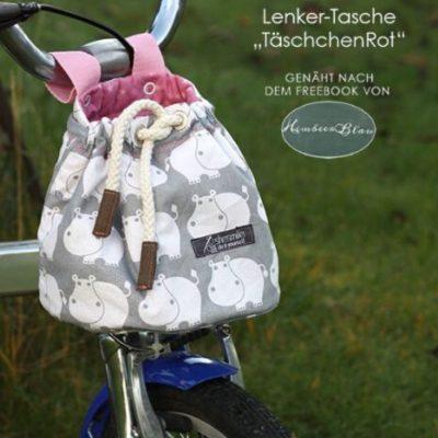 Lenker-Tasche Nähen für Kinder Tasche für Laufrad kostenlose Schnittmuster Gratis-Nähanleitung