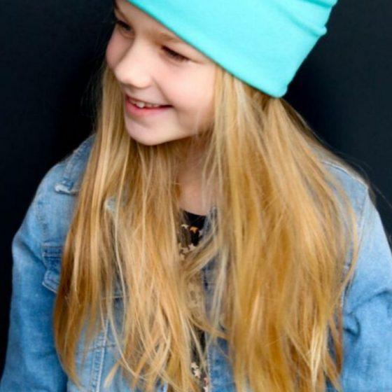 Skater Beanie Mütze Kopfbedeckung kostenlose Schnittmuster Gratis-Nähanleitung