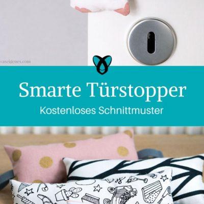 Smarte Türstopper Türpuffer Türkissen kostenlose Schnittmuster Gratis-Nähanleitung Nähen für Zuhause