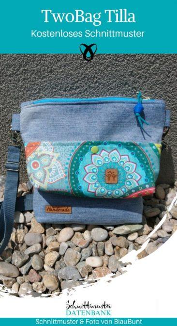 TwoBag Tilla Handtasche Damenhandtasche Schultertasche kleine Tasche kostenlose Schnittmuster Gratis-Nähanleitung