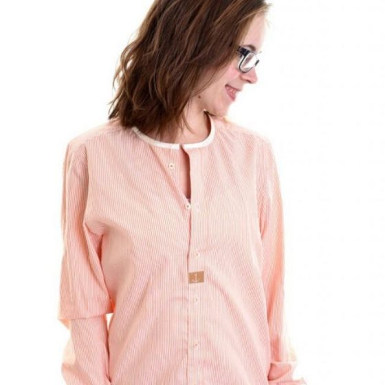 Upcycling Bluse Aus Hemd wird Bluse Herrenhemd Upcycling kostenlose Schnittmuster Gratis-Nähanleitung